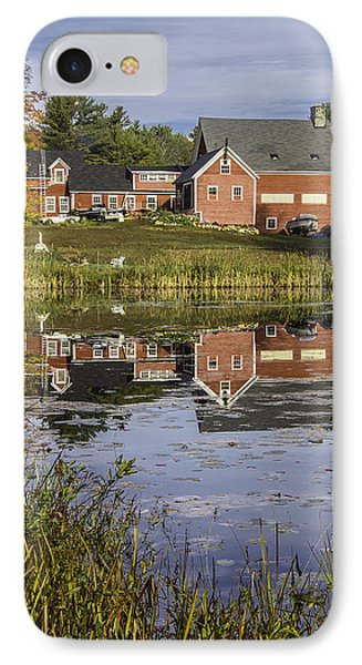 IPhone Case featuring the photograph Nh Farm Reflection by Betty Denise