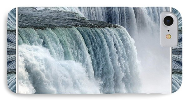 Niagara Falls American Side Closeup With Warp Frame Phone Case by Rose Santuci-Sofranko