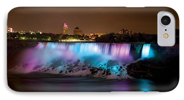 Niagara Falls At Night Phone Case by Mike Feraco