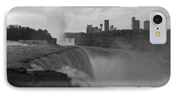 Niagara Falls - Autumn - B N W IPhone Case
