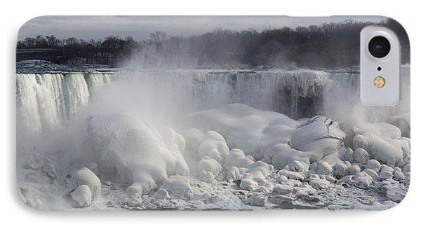 Niagara Falls Awesome Ice Buildup - American Falls New York State Usa Phone Case by Georgia Mizuleva