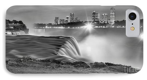 Niagara Falls Black And White Starbursts IPhone Case by Adam Jewell