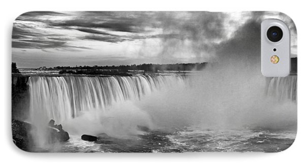 Niagara Falls Black White IPhone Case by Charline Xia