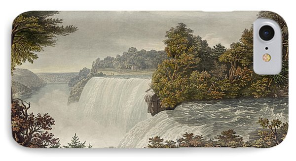 Niagara Falls Circa 1829 IPhone Case by Aged Pixel