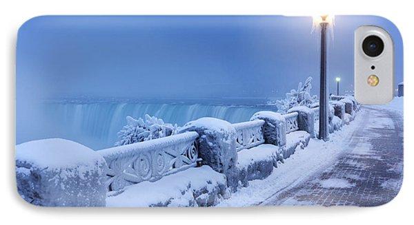 Niagara Falls City Wintertime Scenery IPhone Case by Oleksiy Maksymenko