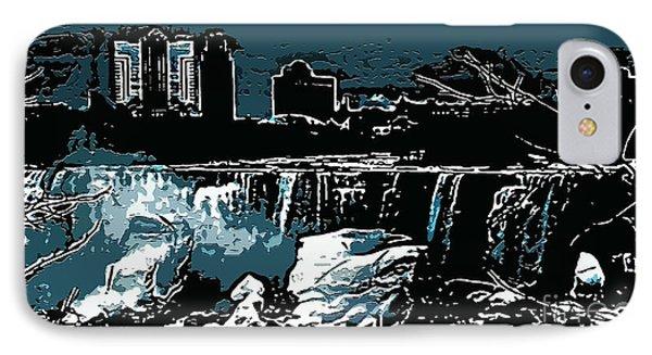 Niagara Falls Frozen At Night Phone Case by Miss Dawn