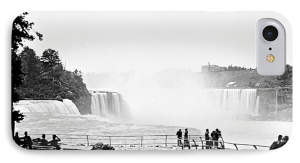 IPhone Case featuring the photograph Niagara Falls Prospect Park 1904 Vintage Photograph by A Gurmankin