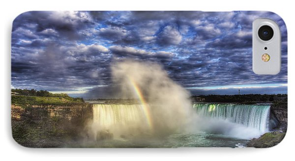 IPhone Case featuring the photograph Niagara Falls Rainbow by Shawn Everhart