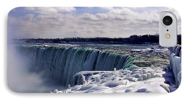 Niagara Falls Winter IPhone Case by Nicky Jameson