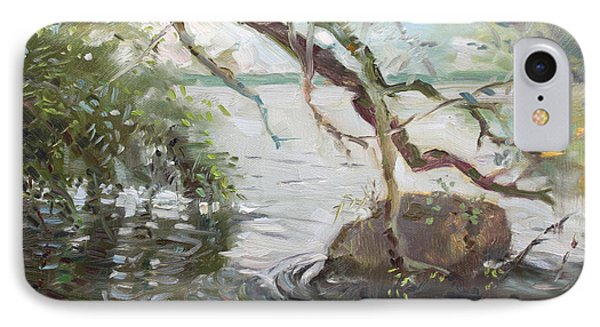 Seagull iPhone 7 Case - Niagara River Side by Ylli Haruni