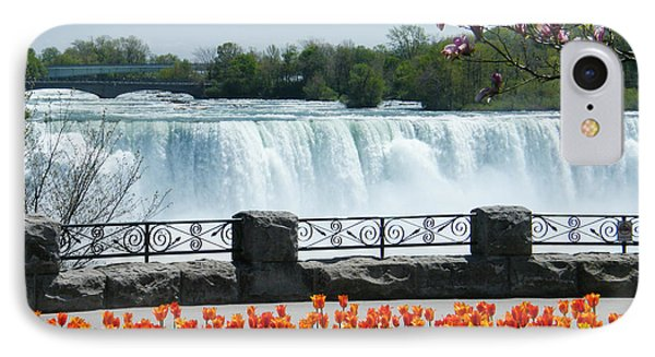 Niagara - Springtime Tulips IPhone Case by Phil Banks