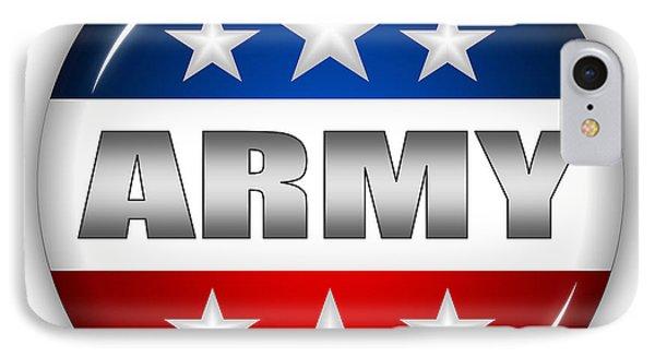 Nice Army Shield Phone Case by Pamela Johnson