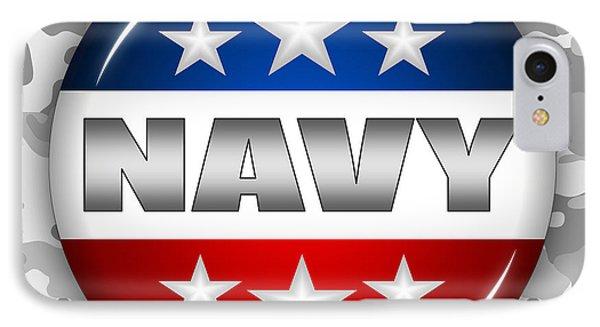 Nice Navy Shield 2 IPhone Case by Pamela Johnson