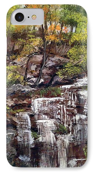 Nice Waterfall In The Forest IPhone Case by Dorothy Maier