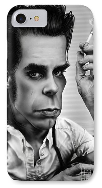 Nick Cave IPhone Case by Andre Koekemoer