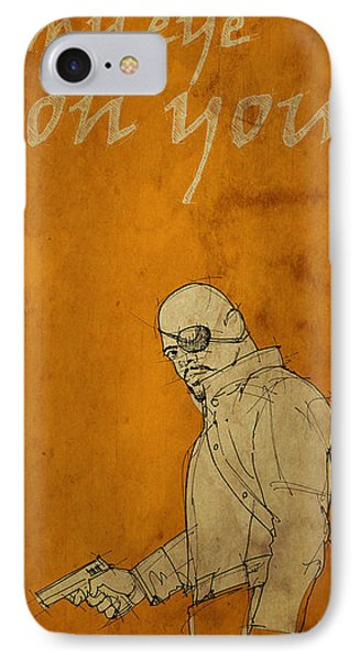 Nick Fury - The Avengers IPhone Case by Pablo Franchi