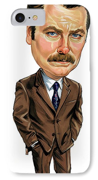 Nick Offerman As Ron Swanson Phone Case by Art