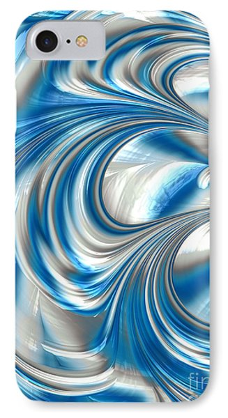 Nickel Blue Abstract IPhone Case by John Edwards