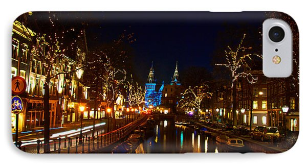 Nieuwe Spieglestraat At Night IPhone Case by Jonah  Anderson