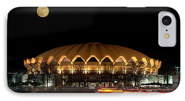 night and moon WVU basketball arena Phone Case by Dan Friend