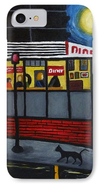 Night At An Arlington Diner Phone Case by Victoria Lakes