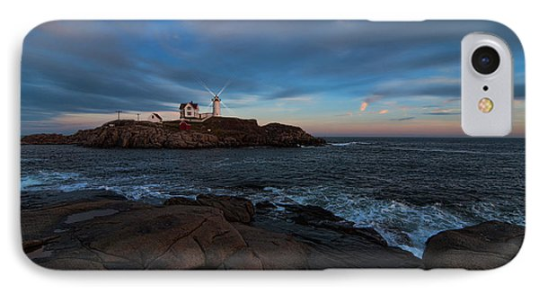 Night At Nubble Light IPhone Case by Sharon Seaward
