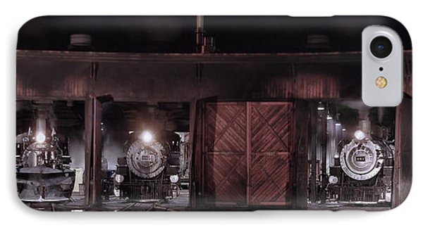 Night At The Durango Roundhouse IPhone Case