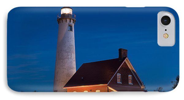 Night At The Lighthouse IPhone Case by Patrick Shupert
