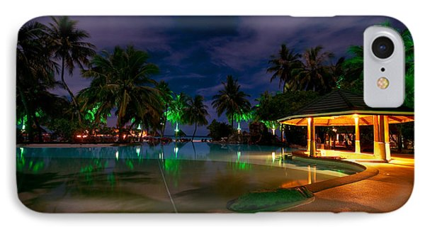 Night At Tropical Resort 1 Phone Case by Jenny Rainbow