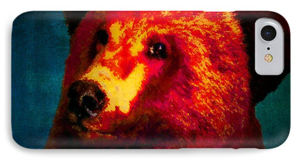 Night Bear 2 IPhone Case by Timothy Bulone