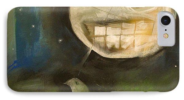 Night Bird Harvest Moon Phone Case by Tim Nyberg