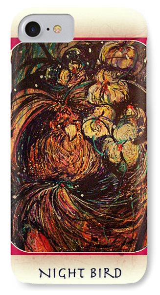 IPhone Case featuring the mixed media Night Bird by YoMamaBird Rhonda