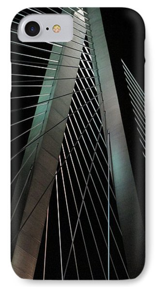 Night Bridge 1 IPhone Case by Randall Weidner