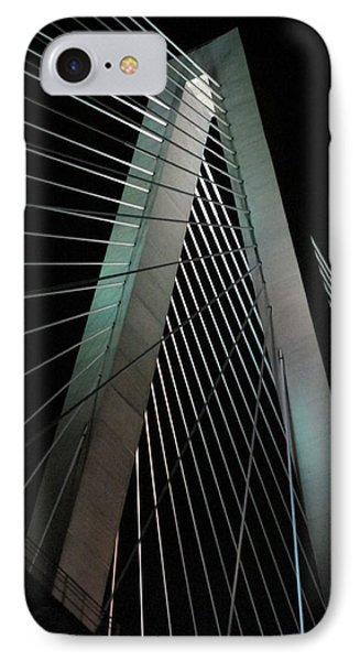 Night Bridge 2 IPhone Case by Randall Weidner
