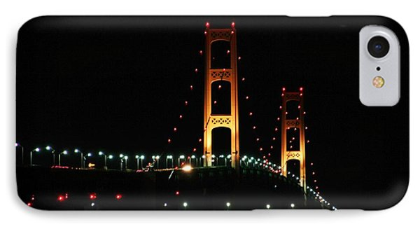 IPhone Case featuring the photograph Night Bridge by Bill Woodstock