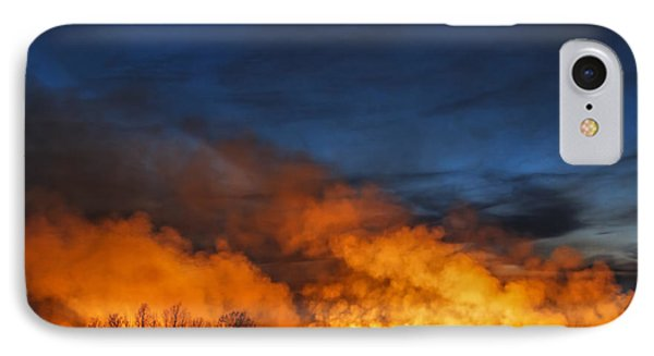 Night Burn In The Flint Hills IPhone Case by Scott Bean