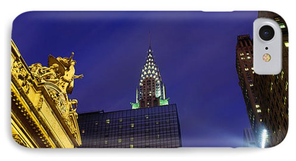 Night, Chrysler Building, Grand Central IPhone Case by Panoramic Images