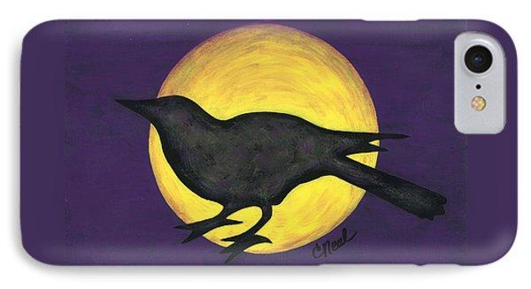 Night Crow On Purple IPhone Case