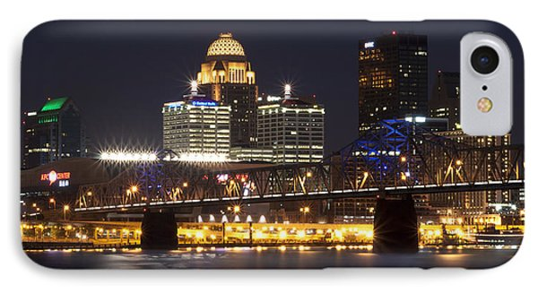 IPhone Case featuring the photograph Night Descends Over Louisville City by Deborah Klubertanz