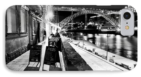 Night Dining In Porto Phone Case by John Rizzuto
