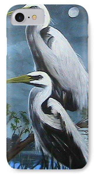 Night Egrets IPhone Case by Catherine Swerediuk