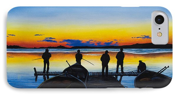 Night Fishing IPhone Case by Aaron Spong