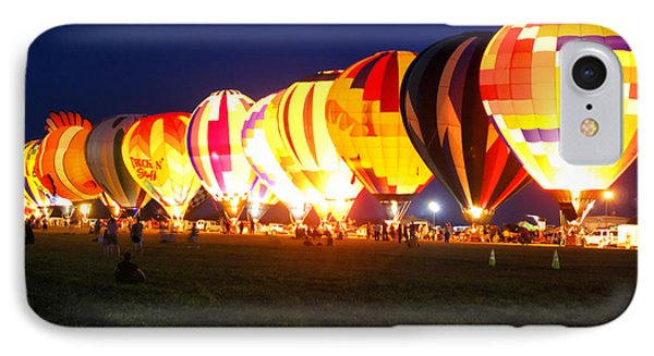 Night Glow Hot Air Balloons IPhone Case by Thomas Woolworth