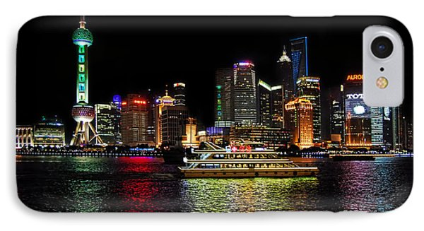 IPhone Case featuring the photograph Night In Pudong by Alexandra Jordankova