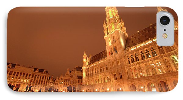 Night In The Grand Place IPhone Case by Deborah Smolinske