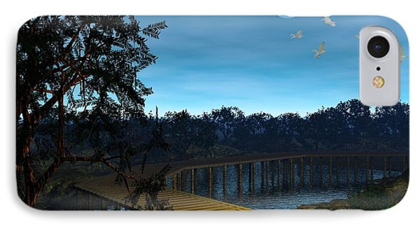 IPhone Case featuring the digital art Night In The Jersey Pines by John Pangia