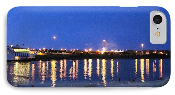 IPhone Case featuring the photograph Night Light Dancing On The River by Yumi Johnson