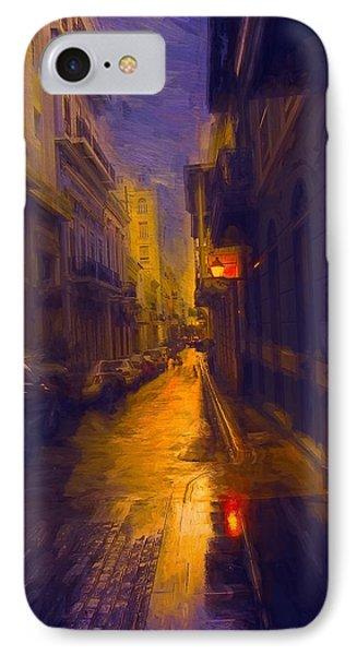 Night Lights IPhone Case by John Rivera