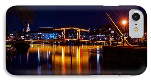 Night Lights On The Amsterdam Canals 1. Holland Phone Case by Jenny Rainbow