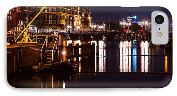 Night Lights On The Amsterdam Canals 2. Holland Phone Case by Jenny Rainbow